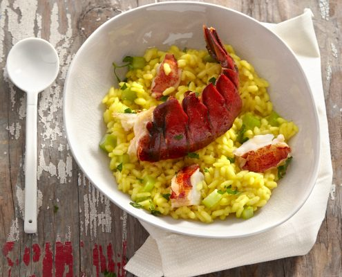 Lobster Risotto with Safran